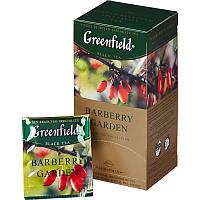 Чай Гринфилд Barberry Garden черный с барбарисом 25 пакетов по 1.5г