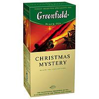 Чай Гринфилд Christmas Mystery черный с корицей 25 пакетов по 1.5г