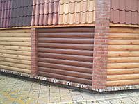 Сайдинг металлический Бревно (блок-хаус)