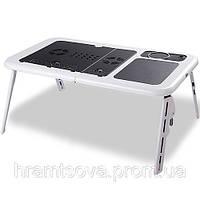 Столик раскладной для ноутбука с кулерами E-Table., фото 1