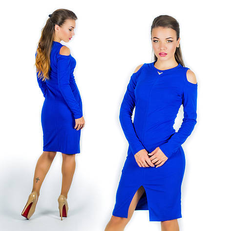 Платье 15577, цвет электрик, фото 2