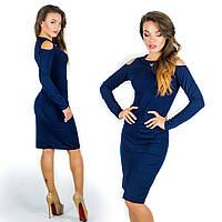 Темно-синее платье 15577