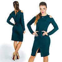 Бутылочное платье 15577