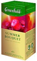 Чай Гринфилд Summer Bouquet травяной с ароматом малины 25 пакетов по 2г