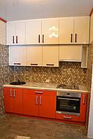 Прямая Кухня в несколько ярусов, фото 1