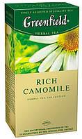 Чай Гринфилд Rich Camomile травяной с ромашкой и корицей 25 пакетов