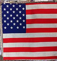 Декоративная наволочка с вышивкой американский флаг