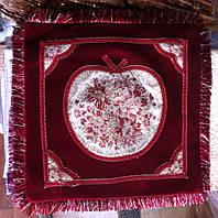 Декоративная наволочка велюровая с бахромой