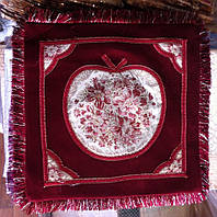 Декоративная наволочка велюровая с бахромой , фото 1