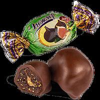 Шоколадные конфеты Инжир в черном шоколаде с грецким орехом