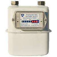Мембранный газовый счетчик Октава 2000 G2.5, вертикальный монтаж, евро-качество