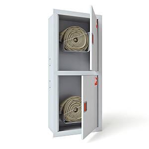 Шкаф пожарный ШПК-321 ВО встроенный с задней стенкой под 2 рукава 1300х600х230 мм