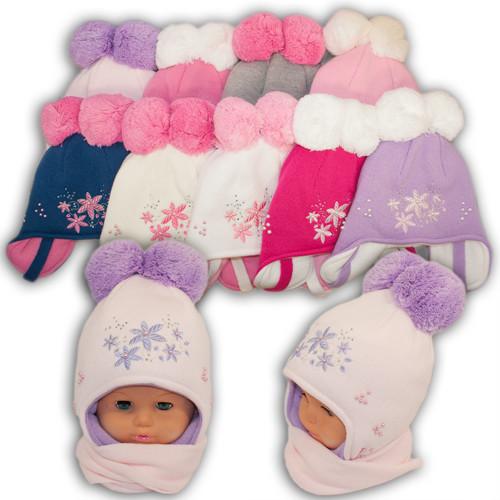 Детский комплект - шапка и шарф для девочки, Amal (Польша), утеплитель Iso Soft, dz- 60