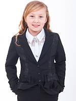 Школьный жакет и пиджак для девочки детский классический на пуговках с рукавами
