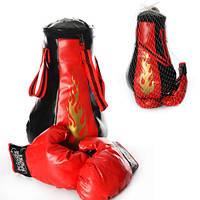Боксерський набір M 1044 груша, 8 звуків, перчатки, бат., сітка, 23-38-23 см