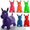 Детские Прыгуны-лошадки MS 0001, ПВХ, 1350г, 6 цветов, в кульке, 28-25-9см