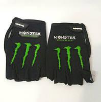 Вело-мото перчатки MONSTER BC-5090-BK(L) (PL, PVC, открытые пальцы, р-р L черный)
