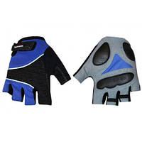 Велоперчатки текстильные SCOYCO ВG03-B (открытые пальцы, р-р S-XXL, синий), фото 1