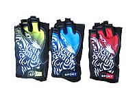 Велоперчатки текстильные VERY GOOD SPORT BC-4831-BL (открытые пальцы, р-р L), фото 1