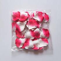 Лепестки роз искусственные SoFun бело-красные 600 шт