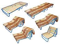 Раскладушка ортопедическая с матрасом (Евро-трансформер)