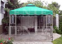 Тент-накриття на квадратну ковану альтанку., фото 1