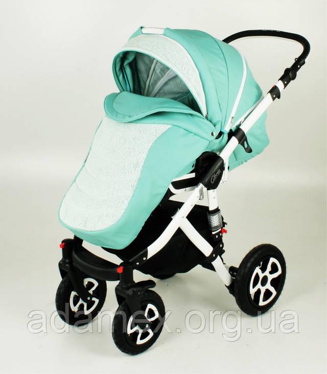 Детская универсальная коляска 2 в 1 Adamex Gloria прогулочный блок