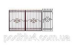 Ворота з кованими елементами