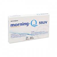 Контактные линзы высокой четкости зрения Morning Q 55 UV  (уп. 6 шт), metafilcon A 55%