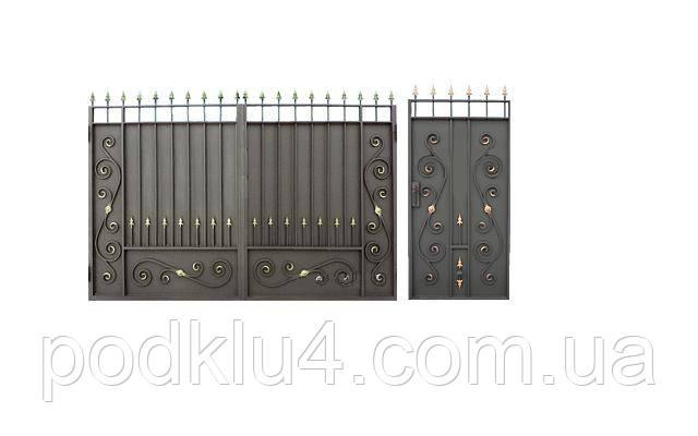 Ворота с коваными элементами, фото 2