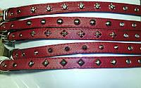 Фауна Ошейник украшения красный 25мм