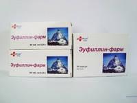 Эуфиллин-фарм , таблетки 0,25 г №40