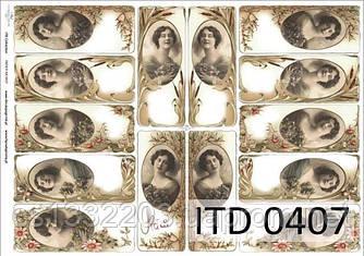 Декупажная карта ITD 0407