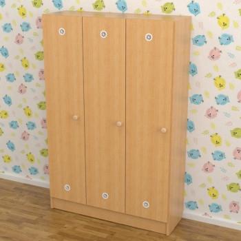 Шкафчик для детского сада 3-хсекционный