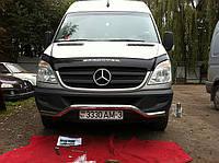 Защита переднего бампера Mercedes Sprinter New