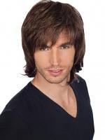 Привлекательный мужской парик из натуральных волос, фото 1