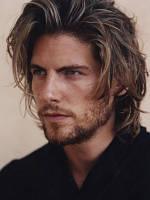 Мужской парик с прямыми волосами