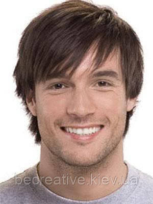 Мужской парик. Натуральный волос