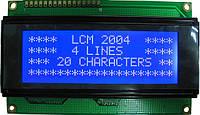 Индикатор ЖКИ 2004 с подсветкой Синий, фото 1