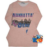 """Детская трикотажная туника """"Manhattan"""" для девочек от 5-8 лет"""