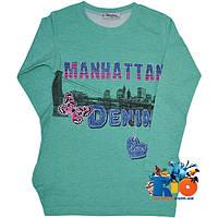 """Детская туника """"Manhattan"""" , из трикотажа , для девочек от 5-8 лет"""