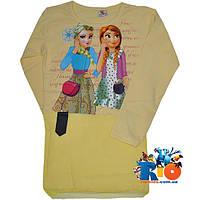 """Детская туника """"Elsa & Anna"""" , из трикотажа , для девочек от 9-12 лет"""