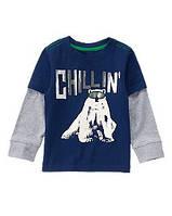 Реглан синий на мальчика 3, 4 года Полярный медведь Crazy8 (США)