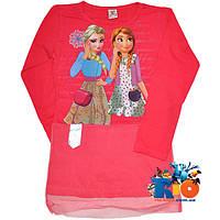"""Стильная туника """"Elsa & Anna"""" , из трикотажа , для девочки от 9-12 лет"""
