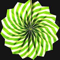 Веер  салатовый спираль 30см
