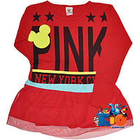 """Детская туника """"Pink"""" , из трикотажа , для девочек от 9-12 лет"""
