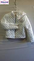 Куртка стеганная для девочки на молнии 13, упаковка 6 шт, рост от 128 до 158 см