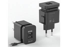 Сетевое зарядное устройство Nomi HC05213 2 порта 2.1A Black (173968)