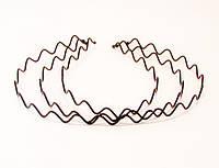 Обруч для волос Зигзаг металл-12 шт.- ширина 1,0 см * Ø 12,0 см.