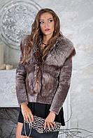 """Полушубок и жилетка из чернобурки и мутона  """"Мирра"""" silver fox fur coat jacket vest gilet"""